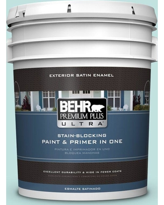 BEHR Premium Plus Ultra 5 gal. #M450-2 Tidewater Satin Enamel Exterior Paint and Primer in One