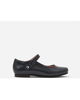 Girl smooth leather Mary Janes - NAVY BLUE - Jacadi