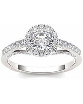 3/4 Carat T.W. Diamond Solitaire 14kt White Gold Engagement Ring