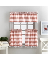 Better Homes & Gardens Stripes and Tassels Kitchen Curtains, Tailored Valance or TIer Pair