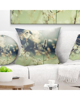 """Sunny Meadow with Wild Flowers Pillow East Urban Home Size: 18"""" x 18"""", Product Type: Throw Pillow"""