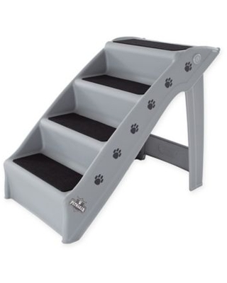 PETMAKER 4-Step Folding Pet Stairs in Grey