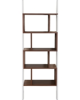 Ascencio Ladder Bookshelf and Display Case - Furniture of America, Canyon Brown/Gallery White