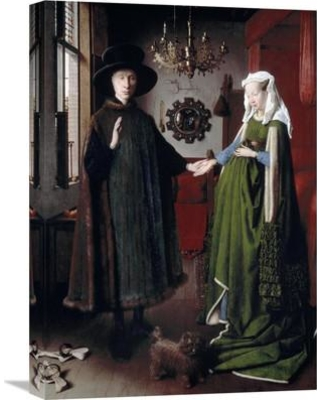 "Global Gallery 'Arnolfini Portrait' by Jan Van Eyck Painting Print on Wrapped Canvas GCS-281263-22-142 / GCS-281263-30-142 Size: 30"" H x 21.25"" W x 1.5"" D"