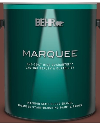BEHR MARQUEE 1 gal. #S-G-750 Chocolate Sprinkle Semi-Gloss Enamel Interior Paint and Primer in One