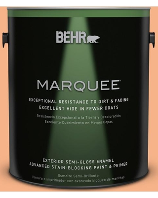 BEHR MARQUEE 1 gal. #250D-4 Autumn Mist Semi-Gloss Enamel Exterior Paint and Primer in One