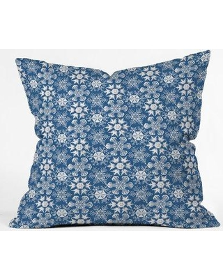 """East Urban Home Lots of Snowflakes Indoor/Outdoor Throw Pillow EBHU5646 Size: 16"""" H x 16"""" W"""