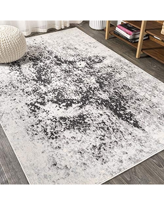 JONATHAN Y Dune Modern Abstract Cream/Gray 3 ft. x 5 ft. Area Rug, Vintage, Easy Cleaning, For Bedroom, Kitchen, Living Room, Non Shedding (CTP109A-3)