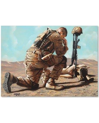 """Winston Porter 'Soldiers Cross' Graphic Art Print on Wrapped Canvas WNST5475 Size: 14"""" H x 19"""" W"""