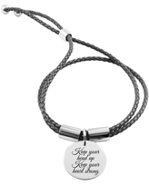 Genuine Adjustable Inspirational Leather Bracelet - KEEP YOUR HEAD UP