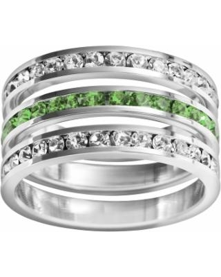 Traditions Sterling Silver Crystal Eternity Ring Set, Women's, Size: 10