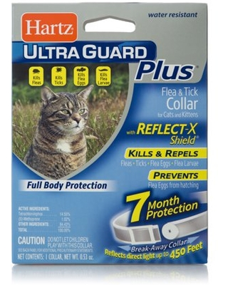 Hartz UltraGuard Plus Reflective Flea & Tick Collar for Cats and Kittens, 7 months Protection