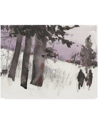 "East Urban Home 'Woodland Sketch II' Acrylic Painting Print on Wrapped Canvas W001064107 Size: 24"" H x 32"" W x 2"" D"