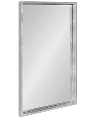 Kate and Laurel Travis Framed Wall Mirror, 24x36, Silver