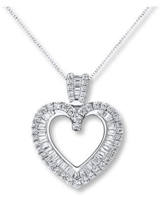 23781594b89 Check Out These Major Bargains: Diamond Heart Necklace 3/4 ct tw ...