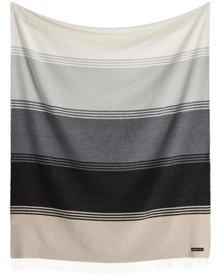 Sackcloth & Ashes Gray and Ivory Wide Stripe Throw Blanket by World Market