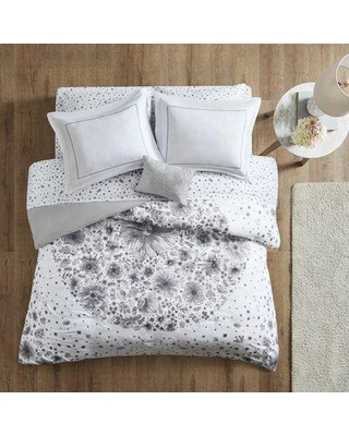 House of Hampton® Mcquaid White Floral 6 Piece Comforter Set X111833739 Size: Queen Comforter + 7 Additional Pieces