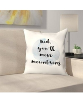 "East Urban Home Kid You Will Move Mountains Throw Pillow ETHF3173 Size: 16"" x 16"""
