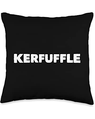 Mom Cuss Words Clothing Kerfuffle Saying Slang Word Statement Funny Novelty Throw Pillow, 16x16, Multicolor