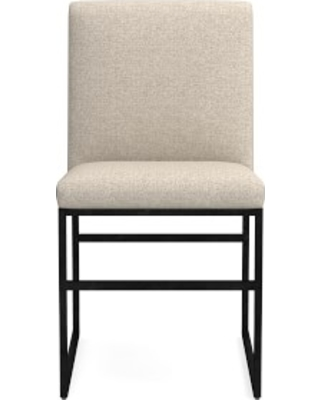 Lancaster Dining Side Chair, Perennials Performance Basketweave, Natural, Bronze