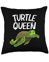 Best Tortoise Reptile & Bony Shell Species Designs Funny Gift for Women Grandma Turtle Land Water Animal Throw Pillow, 18x18, Multicolor