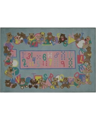 Fun Rugs Supreme Teddies and Letters Rug - 3'3'' x 4'10'', Multicolor
