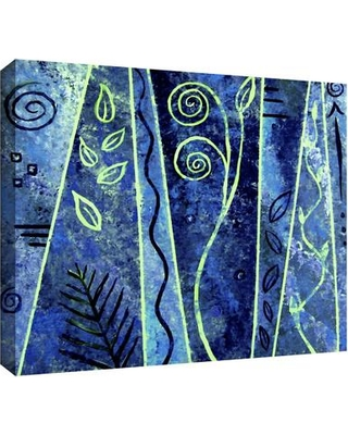 """ArtWall 'Abstract 417' by Herb Dickinson Painting Print on Wrapped Canvas 0dic156aw Size: 24"""" H x 36"""" W"""