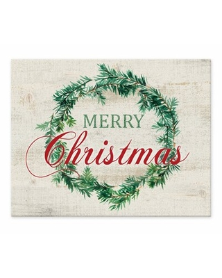 Clardy Merry Christmas Wreath Easelback Decorative Plaque The Holiday Aisle®
