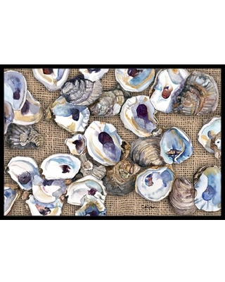 """Seagrove Oyster Non-Slip Indoor Door Mat Rosecliff Heights Mat Size: Rectangle 1'6"""" x 2'3"""""""