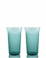 Bomshbee Angle Taper High Ball Glasses - Set of 2 - Teal