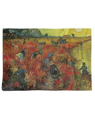"""East Urban Home Vincent Van Gogh the Red Vineyard 18"""" Placemat EBID4618 Material: Cotton Twill Color: Yellow"""