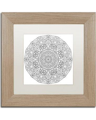 "Trademark Art ""Mixed Coloring Book 34"" by Kathy G. Ahrens Framed Graphic Art ALI3459-T1 Size: 11"" H x 11"" W x 0.5"" D Matte Color: White"