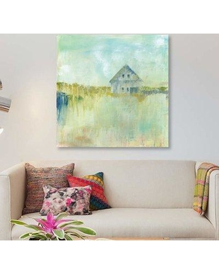 "East Urban Home 'Across the Fields' Print on Canvas EBHU6782 Size: 37"" H x 37"" W x 0.75"" D"