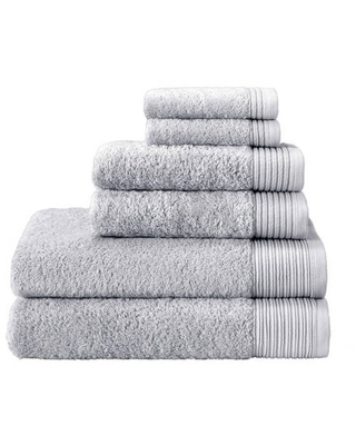Enchante Home Flossy 6-Piece Luxury Quick Dry Turkish Towel Set, White