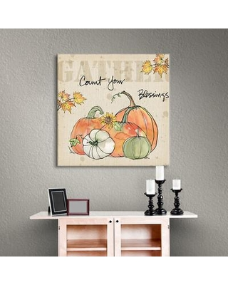 """August Grove Be Thankful IV Painting Print on Wrapped Canvas ATGR6679 Size: 24"""" H x 24"""" W x 2"""" D"""