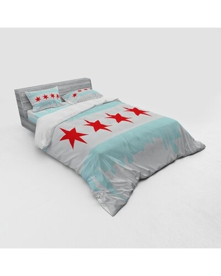Chicago Skyline Duvet Cover Set East Urban Home Size: Queen Duvet Cover + 3 Additional Pieces