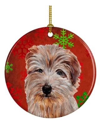 Chinese Crested Christmas Ceramic Hanging Figurine Ornament The Holiday Aisle® Dog Breed: Norfolk Terrier