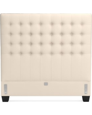Fairfax Tall Headboard Only, Queen, Signature Velvet, Snow