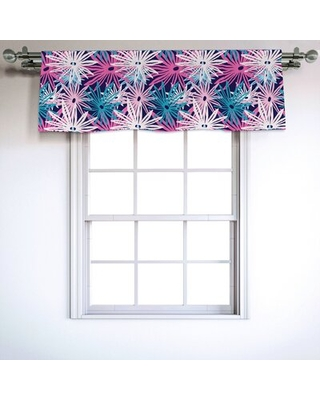"""Floral 54"""" Window Valance East Urban Home"""