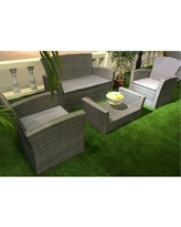 AttractionDesignHome 4 Piece Sofa Set with Cushions SF1002