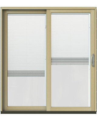 Spectacular Sales For Jeld Wen 72 In X 80 In W 2500 Contemporary Brown Clad Wood Left Hand Full Lite Sliding Patio Door W Unfinished Interior Dark Chocolate