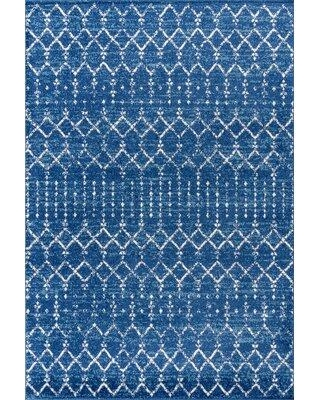 Cant Miss Deals On Union Rustic Tybalt Bluewhite Area Rug Iohn1309