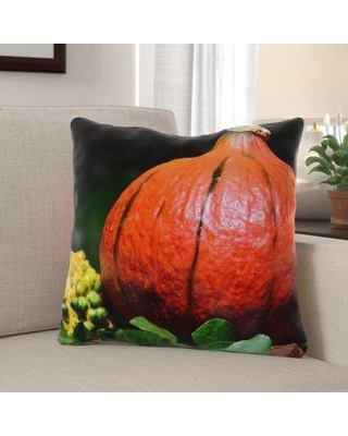 The Holiday Aisle Whipkey Pumpkin Indoor/Outdoor Throw Pillow W001134883