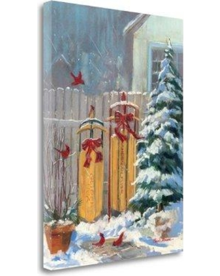 """Tangletown Fine Art 'December Sleds' Print on Wrapped Canvas WA610903 Size: 26"""" H x 20"""" W"""