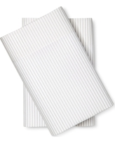 Microfiber Striped Pillowcases (Standard) Gray - Room Essentials, Sleek Silver