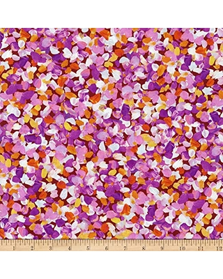 Kaufman Painterly Petals Flowers Summer, Quilting Fabric by the Yard