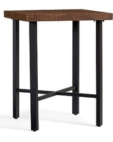 Griffin Wrought Iron & Reclaimed Wood Bar Height Table