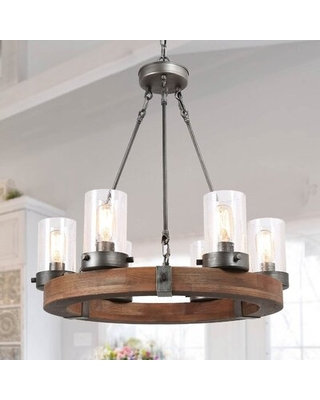 Can T Miss Bargains On Musgrave 6 Light Wagon Wheel Chandelier Millwood Pines
