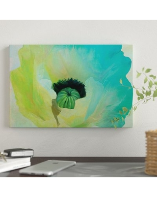 "'Poppy Gradient I' Graphic Art Print on Wrapped Canvas East Urban Home Size: 18"" H x 26"" W x 0.75"" D"