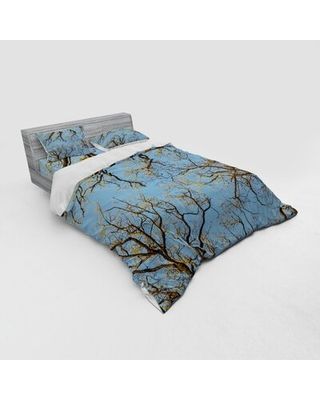 Nature Duvet Cover Set East Urban Home Size: Queen Duvet Cover + 3 Additional Pieces